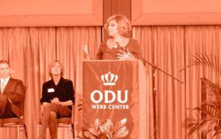 Dr. Angela D. Reddix receiving ODU Entrepreneur of the Year Award