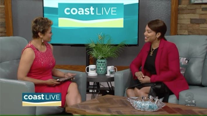 Dr. Angela Reddix appears on Coast Live - WTKR